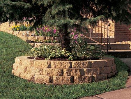 Decorative Landscape Retaining wall